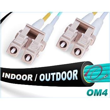 10-Meter Aqua Lynn Electronics SCSC-OM4-10M SC-SC 50//125-10 Gig OM4 Duplex Multimode Fiber Optic Patch Cable