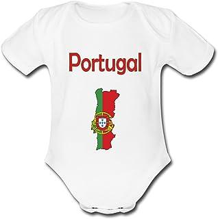 f87d9afc34a52 yonacrea - Body Bébé Manches Courtes - Carte Portugal avec Son Drapeau