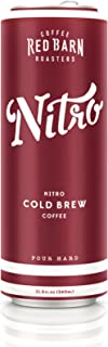 Nitro Cold Brew Coffee (12 11.5 fl. oz. cans) | Red Barn Coffee Roasters | Shelf Stable – No Preservatives | 3 Ingredients – Coffee, Water, Nitrogen | 240 MG Caffeine