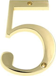 8 inch brass house numbers