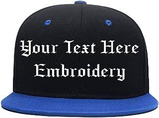 Custom Baseball Hat,Personalized Embroidered Hip-Hop Cap,Adjustable Visor Hat(Black)