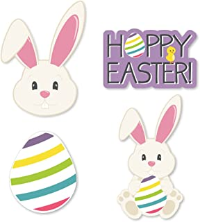 Big Dot of Happiness Hippity Hoppity - DIY Shaped Easter Bunny Party Cut-Outs - 24 Count