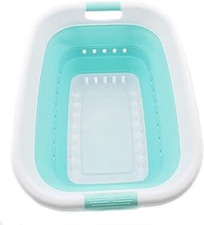 Sammart Panier à linge pliable en plastique – Boîte de rangement pliable – Baignoire à linge portable – Panier à linge pou...