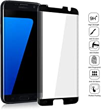 Galaxy S7 Edge Screen Protector, LETANG HD Full Screen Tempered Glass Screen Protector Film, [Case Friendly] [3D Touch] Protection Screen Cover Saver Guard for Samsung Galaxy S7 Edge (Black)