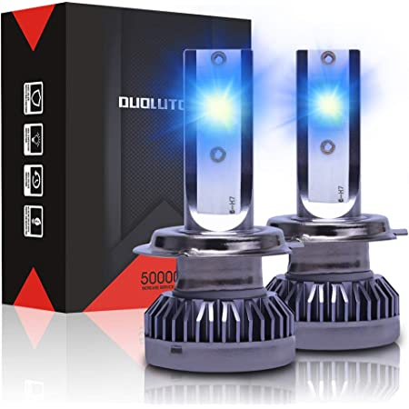 LED 50W H7 Blue 10000K Two Bulbs Head Light Replacement Motorcycle Bike