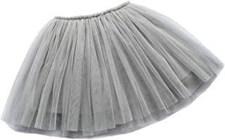 BUENOS NINOS Girl's 3 Layers Tulle Dress Up Tutu Princess Ballet Dance Party Skirt with Lining for 2-9T