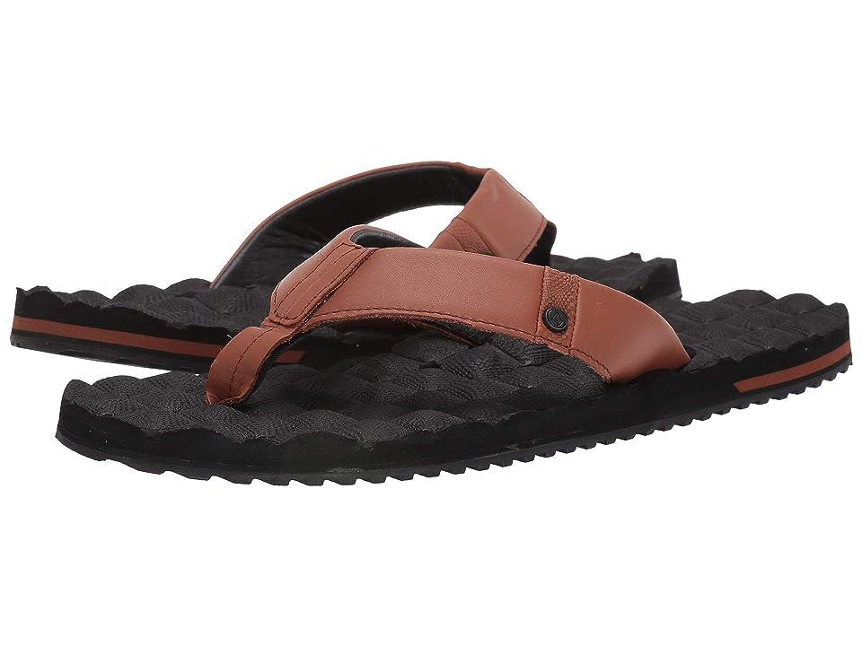 Volcom Recliner Leather (Brown/Stone) Men