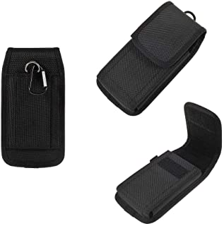 DFV mobile - Case Cover Belt with Two Vertical and Horizontal Belt Loops in Nylon for Samsung Galaxy J2 Prime (2019) - Black