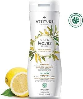 ATTITUDE Super Leaves, Hypoallergenic Clarifying Shampoo, Lemon Leaves & White Tea, 16 Fluid Ounce