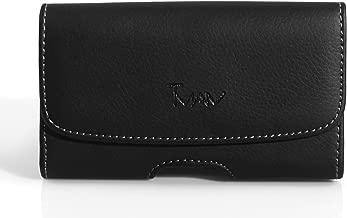 FIT OTTERBOX Defender on it Leather Sideways Holster Case Belt Clip Cover Virgin Mobile ZTE Awe Reef