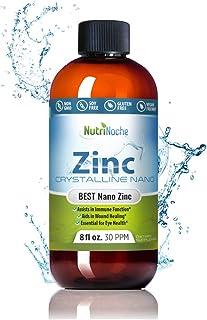 NutriNoche Liquid Zinc - Best Zinc Supplement - Colloidal Minerals - 30 PPM - Highly Absorbable Zinc Supple...