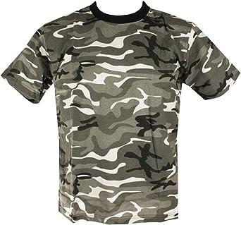 Mens Camo Military/Army T-shirt 100% Cotton (Small, Urban Camo)
