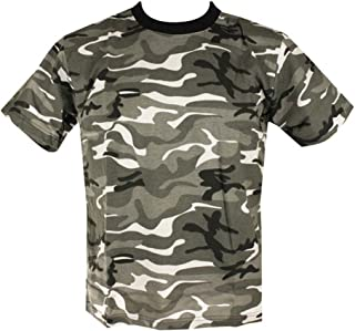Mens Camo Military/Army T-shirt 100% Cotton (XX-Large, Urban Camo)
