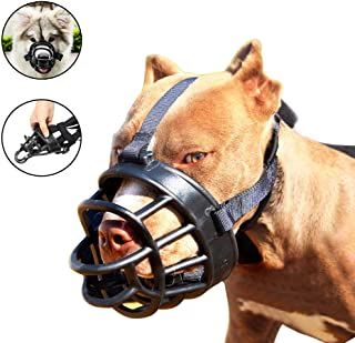 Dog Muzzle-Soft Basket Muzzle for Dogs Adjustable and Comfortable Secure Fit,Best Muzzle to Prevent Biting
