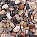 Skullis 5 Pounds Rocks for Garden Outdoor Decorative Stones Garden Pathway Walkway Fish Tank Aquarium Ornaments(23pcs)