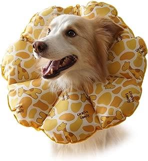 Lucha contra la mordedura para la Cabeza de un Perro Grande Mediano después de la cirugía de Cuello Elizabeth Loop, Yellow Giraffe, Super Miniatura de XS