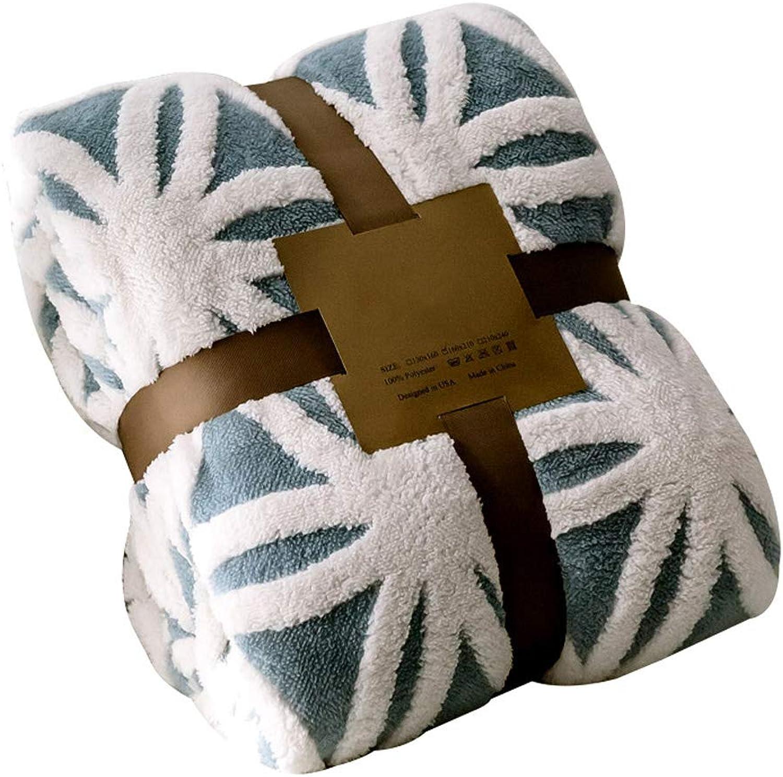 suministro directo de los fabricantes LRXG Manta Manta Manta de sofá Manta del Sofá, Nórdica Gruesa Coral Fleece Super Suave Mullido Sofá Cama Manta R01 (Tamao   130  160cm(51.18  62.99in))  promociones de equipo