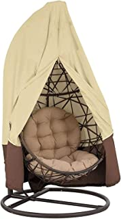 Patio Hanging Egg Chair Cover for Replacement Canopy Cover for 1~2 Seater,Oxford Fabric Waterproof Eggs Rocking Cover with...