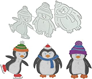 Satelliter Cutting Die Small Animals Style Embossing Metal Mould Template Die Cuts for DIY Scrapbooking Photo Album Decorative Metal Stencils DIY Paper Cards Making(Little Penguin)