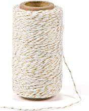 328 Feet Cotton Bakers Twine String,Gold Twine String,Gift Wrapping Holiday Twine Wedding Mothers Day Gift Twine Cotton Co...