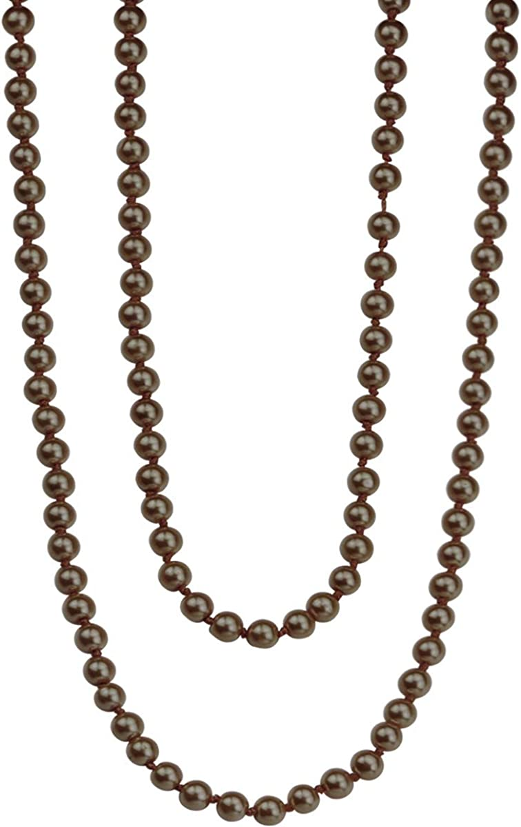 BeautyMood 2 Pcs Pearl Necklace, Stylish Long Pearl Chain for Clothing, Clothing Accessories Bead Accessories