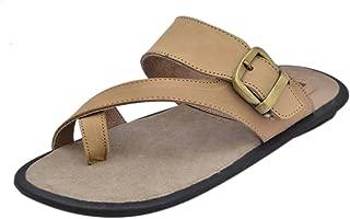 Athlego AHLEGO - Brown Leather Slipper for Men