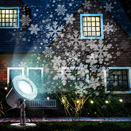 Christmas Projector Lights Outdoor Rotating Snowflake LED Christmas Lights, Waterproof Projector...