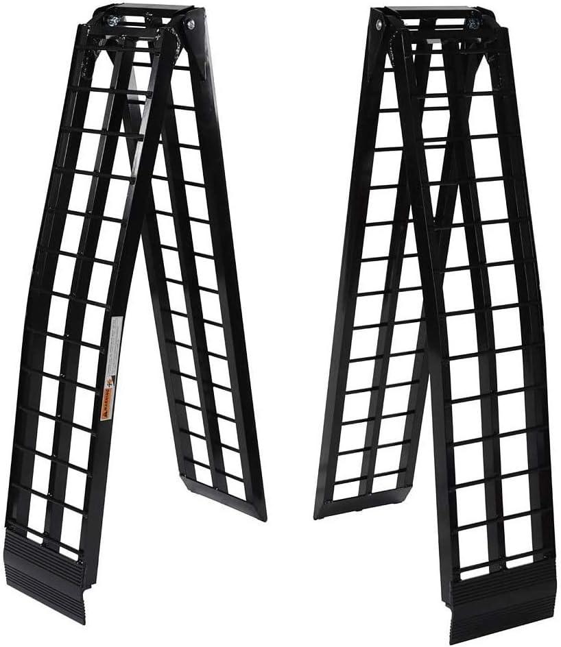 BLPextrm Pair 9 Max 78% OFF ft 1200Lb Folding Outlet sale feature Portable Aluminum Loadin Black