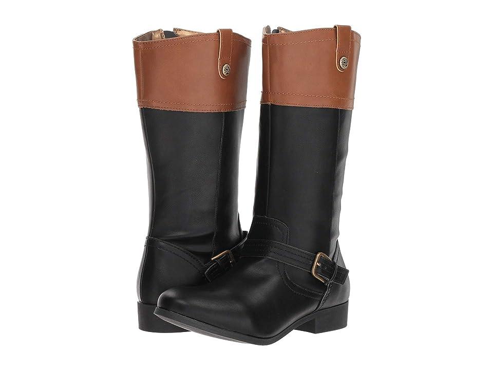 Nine West Kids Emilia (Little Kid/Big Kid) (Black/Tan Smooth) Girls Shoes