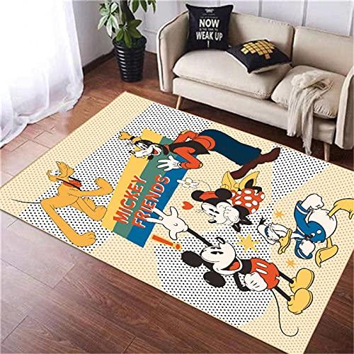 Alfombra De Área De Alfombra Alfombras De Piso Impresas Dibujos Animados De Mickey Mouse Alfombra De Piso Suave Antideslizante Alfombras De Decoración del Hogar (A656) 160X230Cm