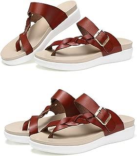 SUKULIS Women Sandals Casual Women Shoes Summer Flat Sandals Fashion Buckle White Ladies Sandals