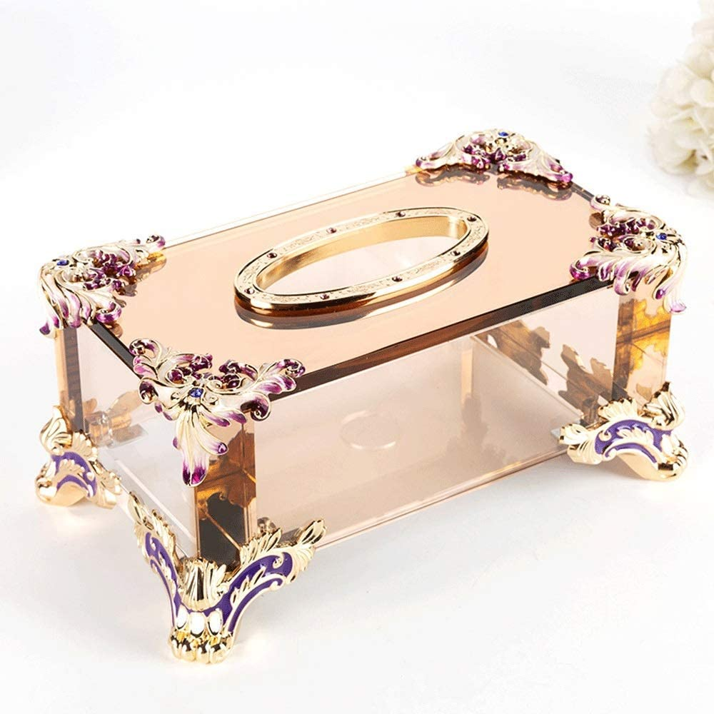 AERVEAL Paper Holder Enamel Crystal Cover Tissue Facial safety Box Outlet sale feature Pape