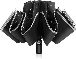 Bodyguard Inverted Umbrella, Windproof Umbrella, Reverse Umbrella with Reflective Stripe, Teflon Umbrella in Rain and Sun