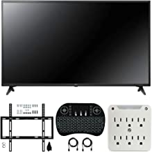 LG 43UM6910 43-inch HDR 4K UHD Smart IPS LED TV (2019) Bundle with Deco Mount Flat Wall Mount Kit, Deco Gear Wireless Backlit Keyboard and 6-Outlet Surge Adapter with Night Light