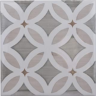 Greige Flower Deco Ceramic Tile 6