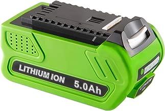 Jialitt 40v 5.0Ah Lithium Replacement Battery for GreenWorks G-MAX 40V Battery 29462 29252 20202 22262 25312 25322 29472(Not for Gen 1)