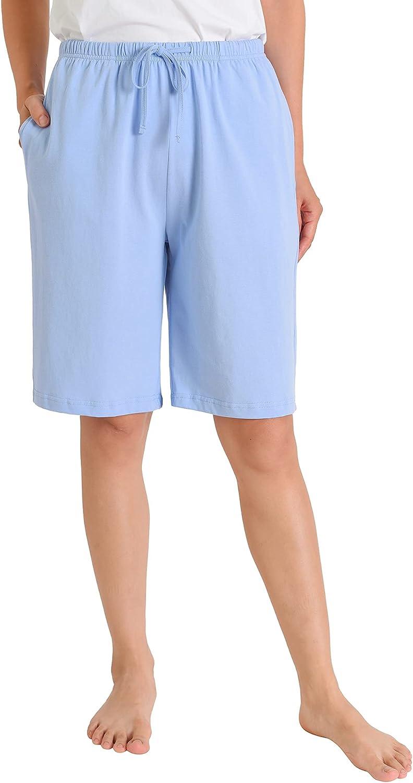 Latuza Women's Cotton Pajama Shorts Soft Bermuda Sleep Shorts