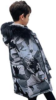 [チューカー] 子供服 アウター 秋冬 ダウンジャケット フード付き 男の子 ジャンパー 中綿コート ダウンコート 迷彩柄 MA-1 ブルゾン かっこいい 厚手 防寒着
