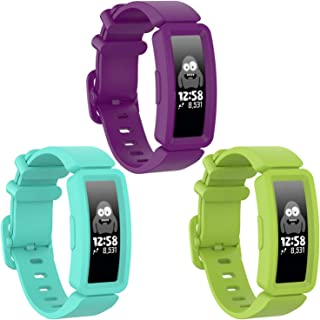 Watbro Compatible with Fitbit Ace 2 Bands for Kids 6+, Soft Silicone Bracelet Accessories Watch Band Repalcement Strap, Co...