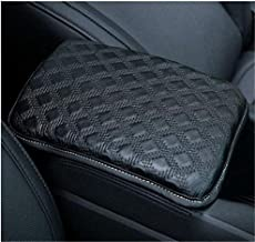 QianBao Auto Center Console Pad, Console Cover Armrest Pads, PU Leather Universal Car Center Console Box Arm Rest Pads Cushion Protector(Black)