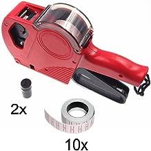 JZK 8 Cifre prezzatrice etichettatrice manuale con 10 rotoli etichette (5000 pz) & 2 rulli inchiostro
