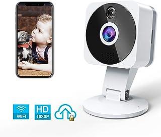 Camara Vigilancia WiFi Interior NIYPS HD 1080P Camara Vigilancia Bebe con Vision Nocturna Audio de 2 Vías Sensor Movimiento y Cloud Camara IP para Bebe/Ancianos/Mascota Monitoreo