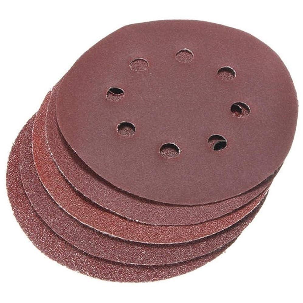 アパートケーブル可塑性WXQ-XQ ツール50pcsの研削8つの穴研磨砂ディスクサンディングペーパー40 60 80 120 240グリットサンドペーパー 研磨工具