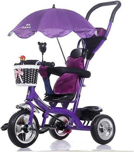 Kinderwagen Trolley Baby Kinderwagen Baby Baby Fahrrad Einfach zu verwenden (Farbe   lila)