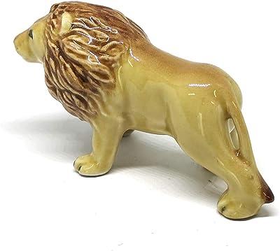 ZOOCRAFT Collectible Ceramic Lion Figurine Handicraft Miniature Safari King of Jungle