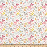 TELIO 0749391 Playday Cotton Poplin Bambi Fabric Stoff,