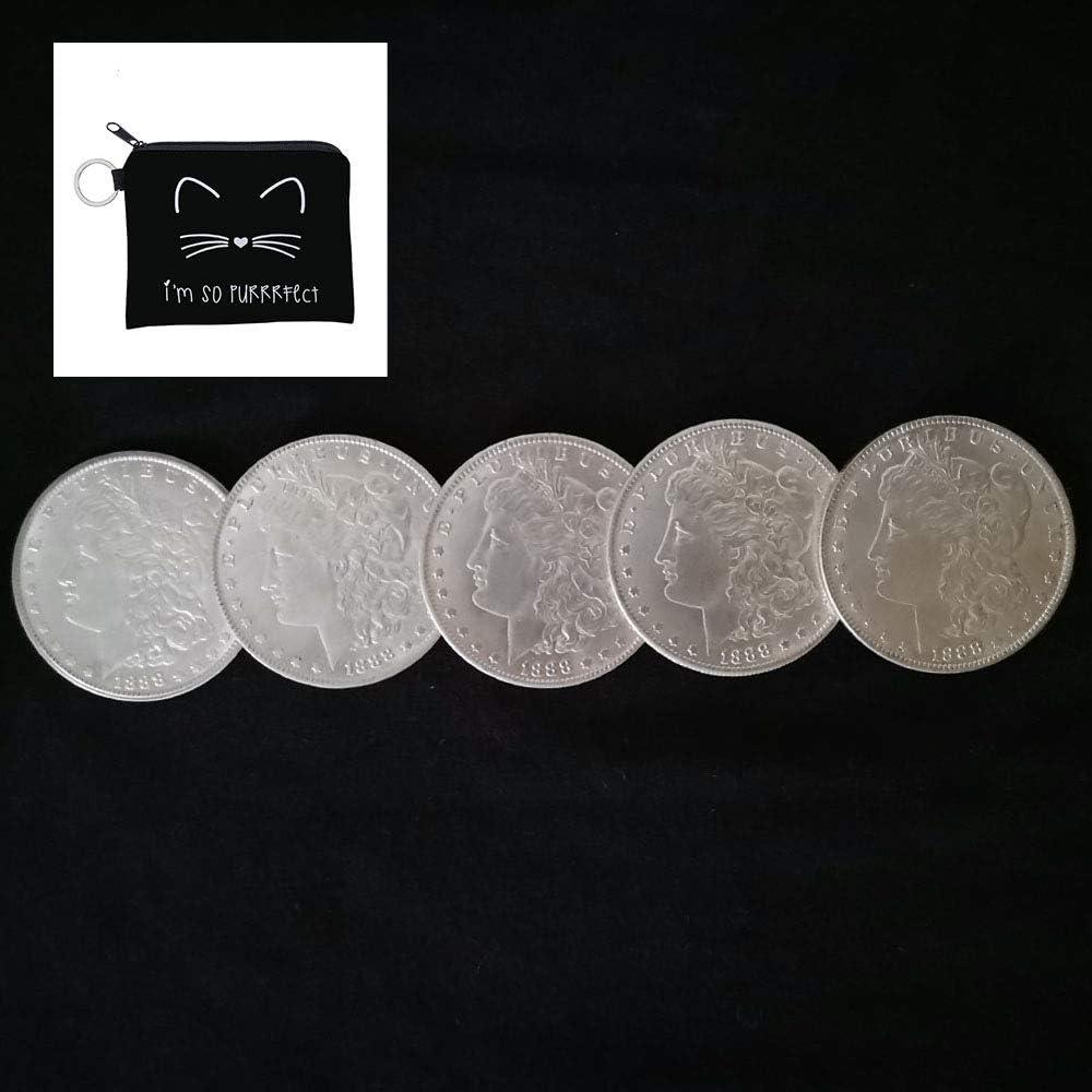 Shinena Over item handling 5 Pcs Steel Morgan Dollar Tricks B Can Dia Magic 3.8cm San Antonio Mall