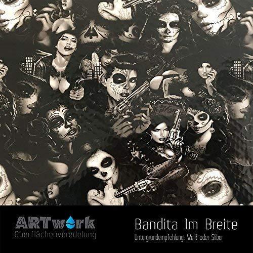 Wassertransferdruck Design Folie ARTwork Bandita 1m Breite