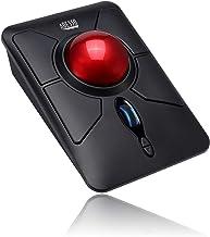 Adesso iMouse T50 Wireless Ergonomic Finger Trackball Mouse with Nano USB Receiver, Programmable 7 Button Design, and 5 Le...