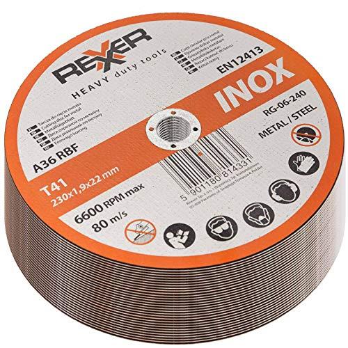 30 x Inox Ø 230 x 22,2 x 1,9 mm Trennscheibe Stahl Edelstahl Metall